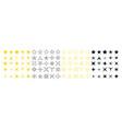 icons sparkle stars set twinkle stars vector image