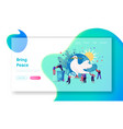international day peace landing page template vector image