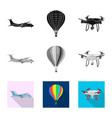 isolated object plane and transport symbol set vector image vector image