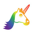 lgbt sign unicorn and rainbow symbol of gays and vector image vector image
