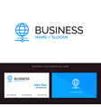 logo and business card template for globe vector image