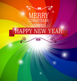 Merry Christmas and Happy New Year Card on vector image vector image