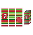 merry christmas gift shopping bag designe with vector image