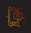 mobile sms chat icon design vector image