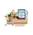 online supermarket concept vector image