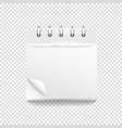 paper calendar template on transparent mockup vector image vector image