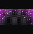 pink glitter sparkles and glowing luminous vector image