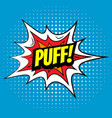 pop art comics puff speech bubble vector image