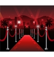 Red carpet movie premiere elegant event hollywood vector image
