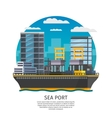 Sea Port Design vector image