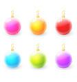 set of colorful christmas ball vector image vector image