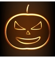 Silhouette of Halloween pumpkin vector image