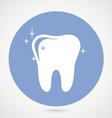 Sparkling tooth icon - dentistry symbol vector image vector image
