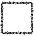square frame black graffiti tag pattern on white vector image vector image