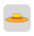 sun hat protective clothing flat icon object of vector image vector image