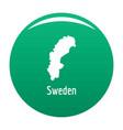 sweden map in black simple vector image