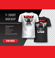 t-shirt template fully editable with riders skull vector image