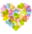 valentine with color multi-heart vector image vector image