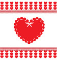 valentines or wedding love template with heart vector image vector image