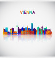 vienna skyline silhouette in colorful geometric vector image vector image