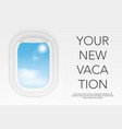 view from airplane aircraft flight interior vector image