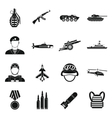 War icons set simple style vector image vector image