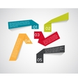 Infographic Origami Templates for Business vector image