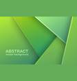 abstract 3d banner with green paper layers vector image