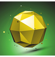 Abstract 3D structure green network backdrop vector image vector image