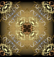 abstract antique baroque style gold seamless vector image vector image