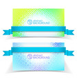 abstract light banner set vector image vector image