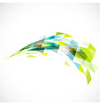 abstract transparent triangle on perspective vector image vector image