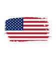 american flag grunge old flag usa isolated white vector image vector image