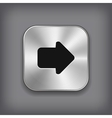 arrow icon - metal app button vector image vector image