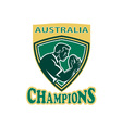 australia rugby champions vector image vector image