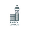 big ben london line icon big ben london vector image