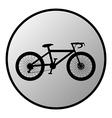 Bike button vector image vector image
