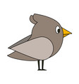 bird cute cartoons vector image