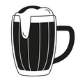 black and white beer mug silhouette vector image