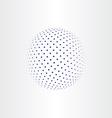 blue halftone globe icon vector image vector image
