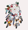 boho fashion dreamcatcher vector image vector image