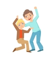 Boy Beating Up Smaller Kid Teenage Bully vector image vector image