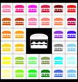 burger simple sign felt-pen 33 colorful vector image vector image