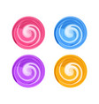 candy round swirl lollypop vector image