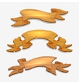Cartoon wood signs or wooden ribbons vector image vector image