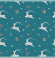 christmas seamless pattern with deer vector image