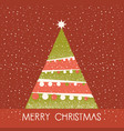 christmas tree red card vector image vector image