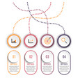 circle infographic template four option process vector image vector image