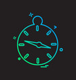 compass icon design vector image vector image