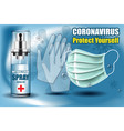 coronavirus protect yourself a poster vector image